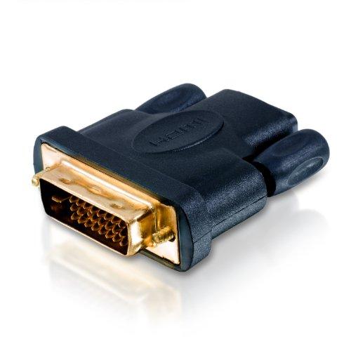CSL - HDMI auf DVI Adapter - DVI-D Stecker 24 1 Male auf HDMI Buchse - Full HD - 1080p - Beamer PS3 UVM
