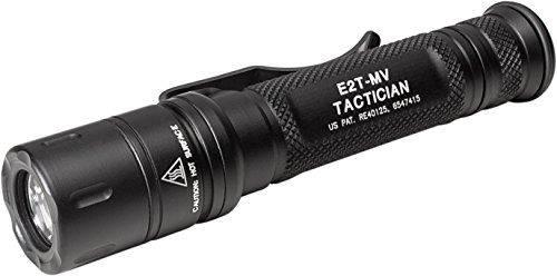 SureFire E2T-MV Tactician High-Output LED Flashlight with Maxvision, Black
