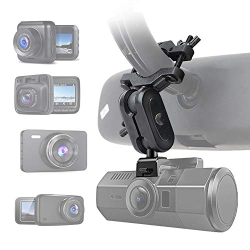 """Dash Cam Mirror Mount, Universal Dash Cam/DVR Mount Holder,Compatible withYI 2.7"""", Rexing V1, UGSHD, Z-Edge, Old Shark, KDLINKS X1, Crosstour and Most Other Dash Camera"""