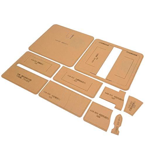 Brieftaschen-Tools Brieftaschenmuster-Schablonen-Schablonensätze, klares Acryl-Brieftaschenmuster-Schablonenmodell für DIY Hand Craft Making