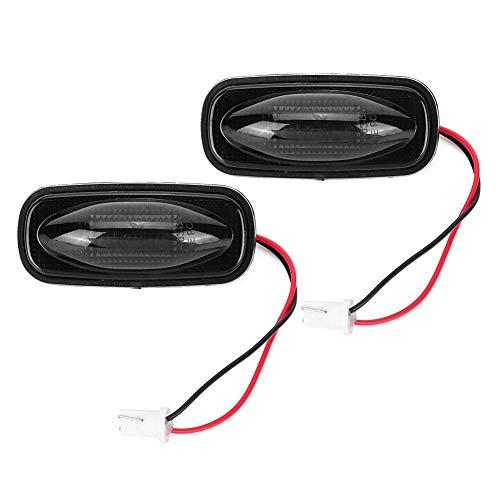 Qiilu 2 stuks zijmarkeringslicht, 3LED zijmarkeringslicht Signaallamp 500LM Hoge helderheid voor vrachtwagenaanhangwagen(rood licht)