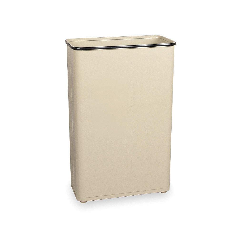 Trash Can Bombing free shipping Rectangular 24 New products, world's highest quality popular! gal. can Kitchen Almond