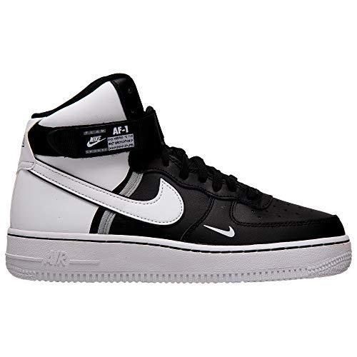 Nike Air Force 1 High Lv8 2 (GS), Scarpe da Basket Bambino, Multicolore (Black/White/Wolf Grey/White 010), 36.5 EU