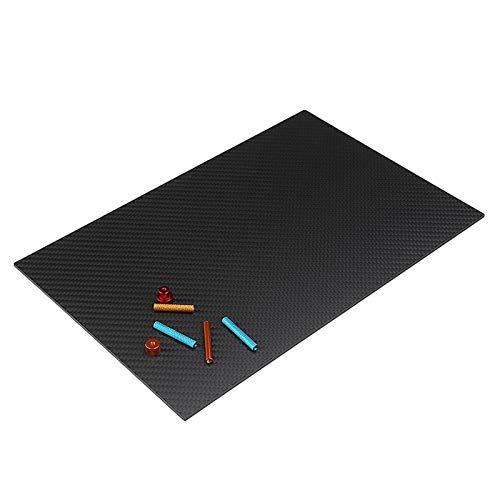 ARONG High Strength Carbon-Faser-Board 250x420mm Carbon Fiber Board Twill-Webart Matte Panel Carbon Fiber Vorstand ist geeignet for Sportausrüstung, UAV Drohne (Size : 4mm)