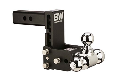 "B&W TS30049B Tow & Stow Model 10 Tri-Ball Hitch 1 7/8"" x 2"" x 2 5/16"" for 3"" Receivers 7.5"" Drop 7"" Rise"
