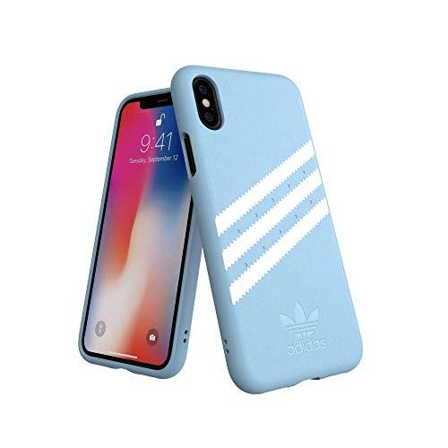 Adidas 31609 Moulded Suede - Funda para iPhone X/XS, Color Azul