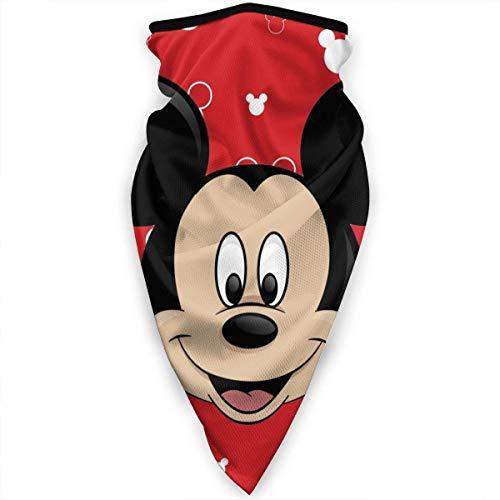 Night-Shop Mickey Mouse Head Multifunktionale Bandanas Gesichtsschutz Stirnband Schal Headwrap Neckwarmer für Staub Sport Reiten im Freien Schwarz