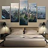 GMSM Bilder Star Wars City Millennium Falcon Drucke Malerei