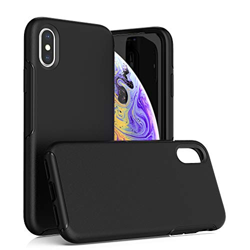 Krichit Ongoing Series Compatible with iPhone X & iPhone Xs Case, Anti-Drop and Shock-Absorbing case Compatible withiPhone X, Xs, 10 Case (Black)