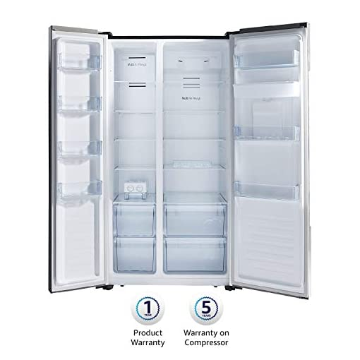 AmazonBasics 564L Side-by-Side Door Refrigerator