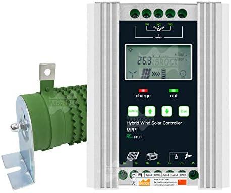 Marsrock 1400W 12V 24V Auto MPPT Wind Solar Hybrid Charge Controller Support Gel and Lead Acid product image