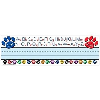 Teacher Created Resources Paw Prints Left/Right Alphabet Name Plates  4040