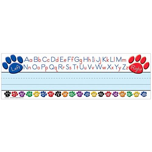 Teacher Created Resources - Placas de nombre de alfabeto izquierdo/derecha (4040) ✅