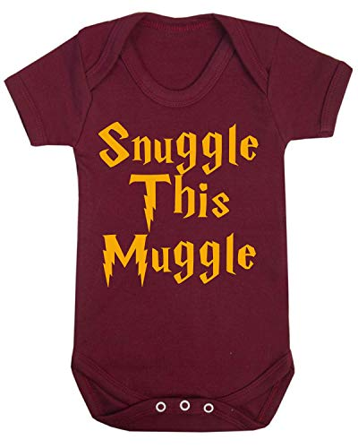 Snuggle this Muggle Harry Potter - Body para bebé (6 a 12 meses), color granate