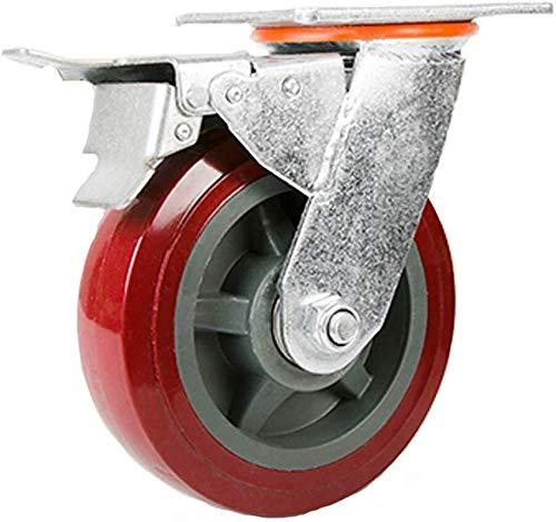 Industriële trolleywielwielen Zware wielen met een diameter van 100 mm (3,9 inch)/125 mm (4,9 inch)/150 mm (5,9 inch)/200mm (7,8 inch) met vaste plaat en dubbele lagers 5 inches