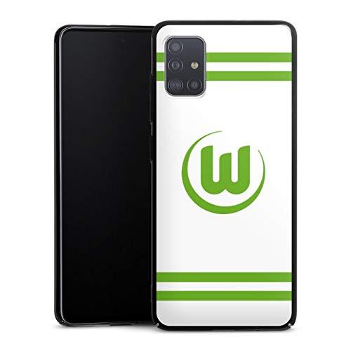 DeinDesign Hülle kompatibel mit Samsung Galaxy A51 Handyhülle Case VFL Wolfsburg Offizielles Lizenzprodukt Streifen