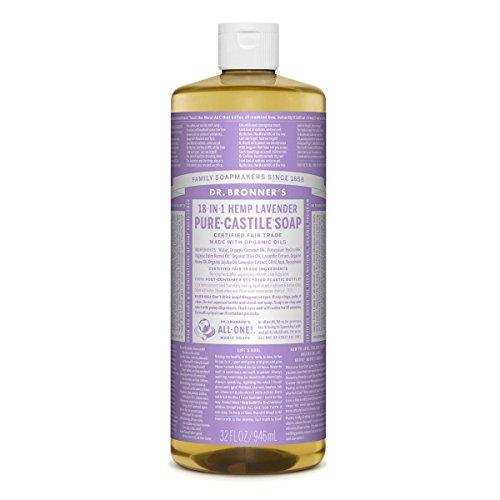 Dr Bronner Soap Liquid Lavender Oil, 32 Fl Oz