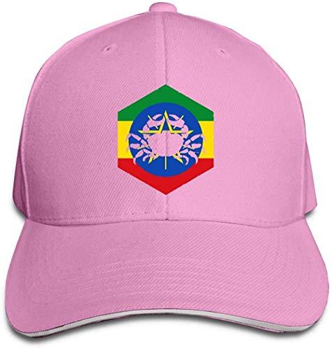 ZYZYY Berretto da baseball unisex Cancro Etiopia Snapback Cappello regolabile con visiera