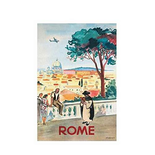 CREENCIA Y LOGRO Inspirador Napoleón a caballo CARTEL DE SEDA Pintura decorativa -24x36 pulgadas Sin marco