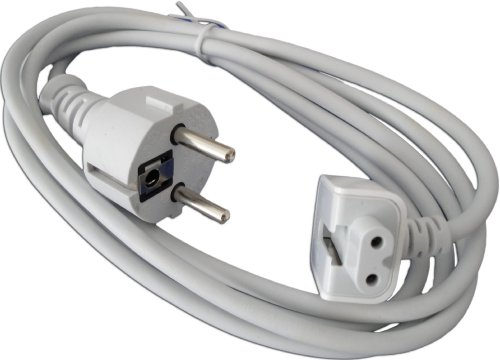 e-port24® stroomkabel voedingskabel verlengkabel voor alle Apple-voedingen Apple MacBook Air PowerBook Pro 15 inch 17 inch G4 iBook iPhone iPod A1222 A1184 MA938 Powerbook G3 G4 enz.