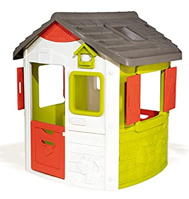 Smoby Neo Jura Lodge, Spielhaus für Kinder für drinnen und draußen, mit Fenstern, Türen, Vogelhaus, erweiterbar, für Jungen und Mädchen ab 2 Jahren
