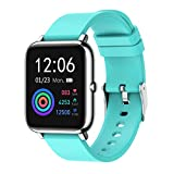 Rogbid Rowatch 1 Smart Watch 1.4 Touch Screen Fitness Tracker Sleep Heart Rate Monitor Blood pressure Monitor Blood Oxygen Meter Bluetooth Compatible iPhone iOS Android Smartwatch for Men Women (Blue)