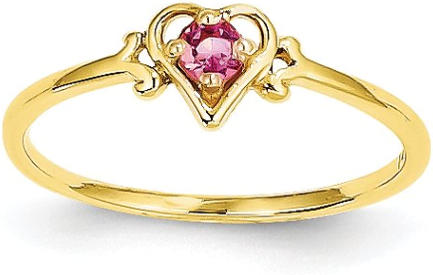 gold and Watches 14k Genuine October Birthstone Heart Ring