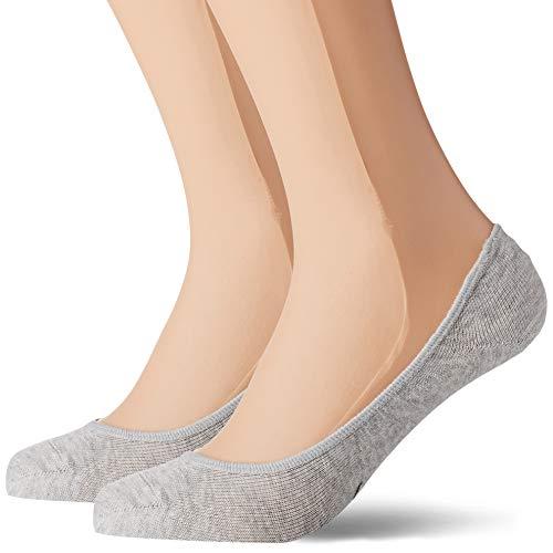 PUMA Women Footie 2p Calcetines, Gris (Grey Mélange 032), 35/38 (Talla del fabricante: 035) (Pack de 2) para Mujer