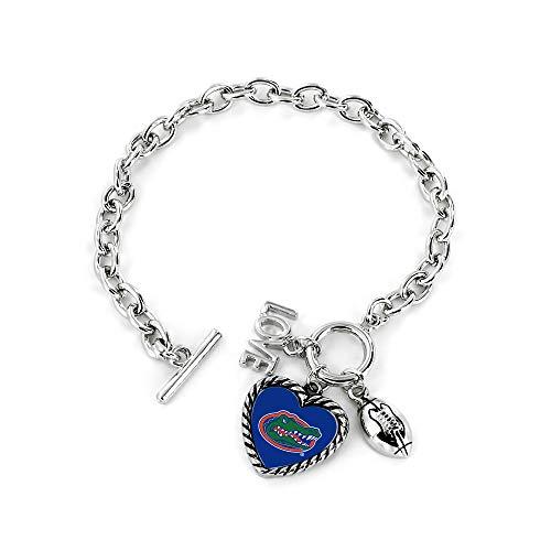Aminco NCAA Florida Gators Charmed Sport Love Bracelet