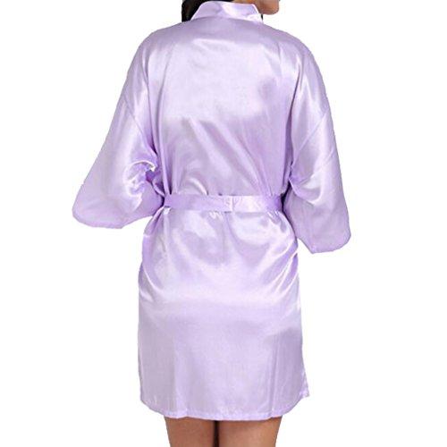 WEIMEITE Bata de Kimono de Satén Robe para Novia Dama de Honor...