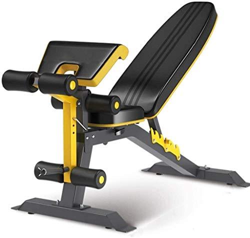 WBZ ZJX Multi-Funktions-Adjustable Hantelbank, AB Fitness Chair Preisen Hocker Breath Sit-ups Fitnessgeräte, Haushalt Gym Workout Bench