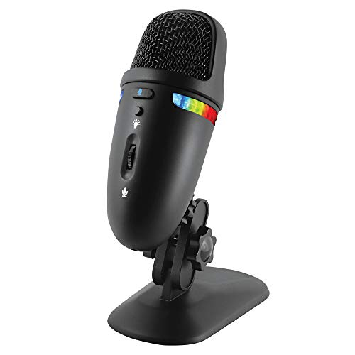 Cyber Acoustics Premium USB Microphone with Dual Recording Patterns - 24-bit Recording Perfect for Podcasting and Vlogging - Compatible with PC and Mac (CVL-2009)