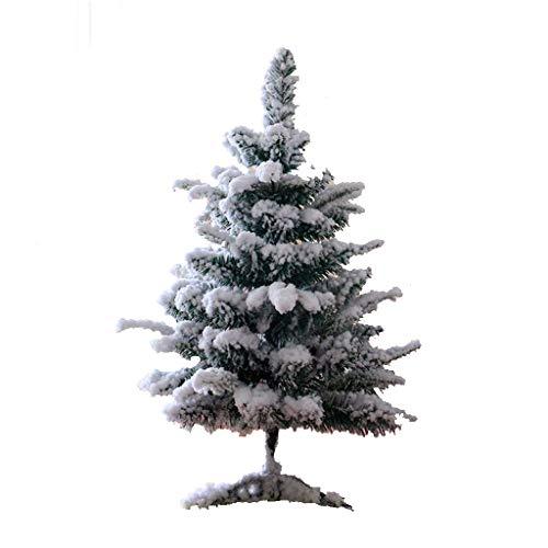 Arbre de noël neige blanche pulvérisation flocage arbre artificiel renforcement support simulation cèdre arbre, nouvel an scène scène décoration décorations intérieure et extérieure ( taille : 60 cm )