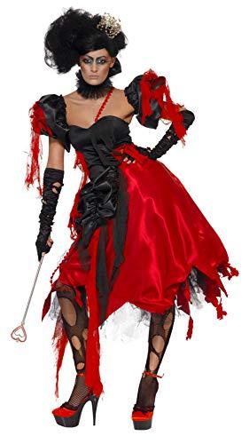 Smiffys, Damen Herzkönigin Kostüm, Kleid, Ärmel und Halsband, Größe: M, 23020