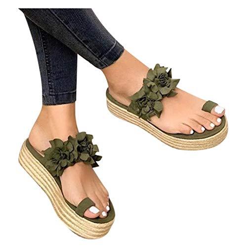 Dasongff Sandalias de mujer de verano con plataforma y corrección de los dedos de los pies, sandalias de tacón redondo, sandalias para mujer, sandalias informales, sandalias