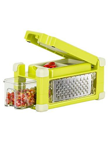 Genius Nicer Dicer Magic Cube Gourmet | 9 Teile | Alles-Schneider | Obst- und Gemüseschneider
