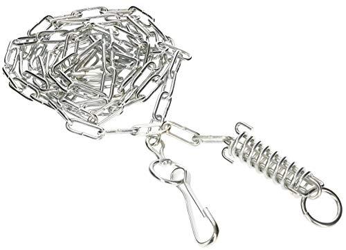 KOTARBAU® Cadena para perros de 4 mm y 3 m con muelle amortiguador y cierre, alambre de acero galvanizado fuerte protección para el perro