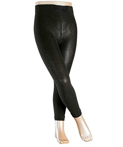 FALKE Kinder Leggings Active Warm - Merinowollmischung, 1 Stück, Grau (Anthracite Melange 3080), Größe: 110-116