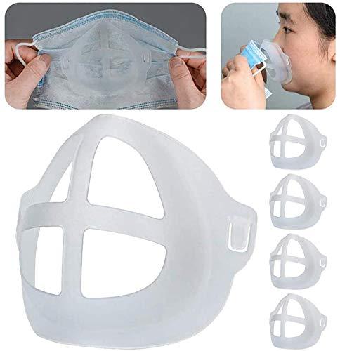 WWJJLL 3D Breath Bracket, Cool, atmungsaktiv, bequem und hautfreundlicher Gesichts-Schutz, Auxiliary Cushion Klebt Nicht an der Nase und Mund, Verstärkt Breathing Space 10PCS