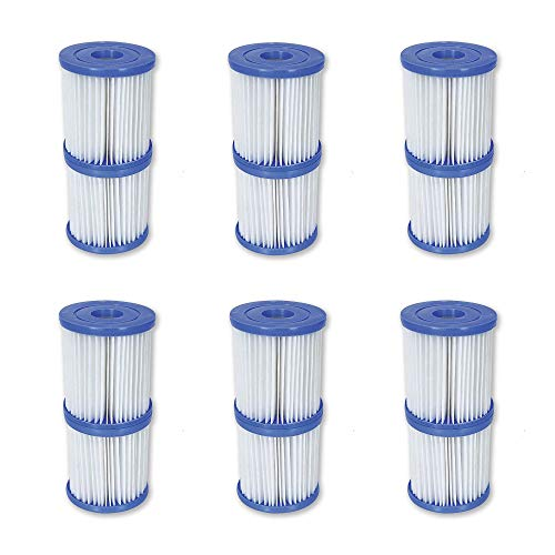 Bestway Flowclear Type V/Type K 330 GPH Replacement Filter Cartridge (6 Pack)