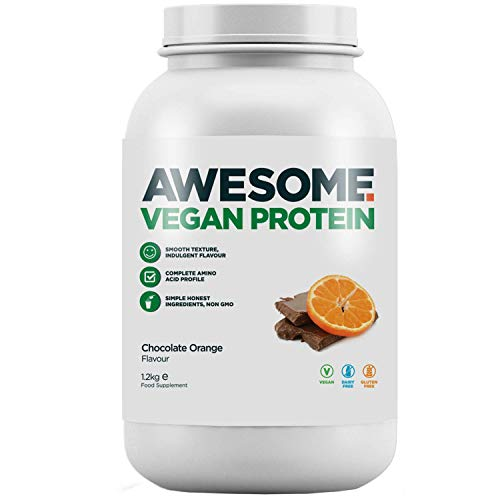 Awesome Supplements by Ben Coomber, Vegan Complete Protein Powder, Plant-Based, Made in The UK (Chocolate Orange)