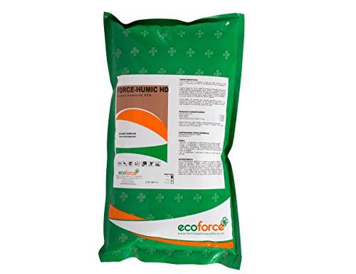 CULTIVERS Force-Humic HD de 1 kg. Fertilizante - Abono de Ácidos Húmicos y Fúlvicos, super concentrado al 82%. Producto 100% soluble de Leonardita. Con registro Ecológico.