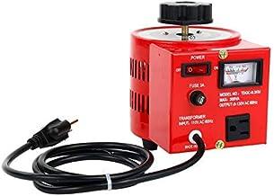 YaeCCC 3 Amp Variable Voltage Transformer, 120VAC Input, 0-120V/130VAC Output Automatic Voltage Converter(300W Max)