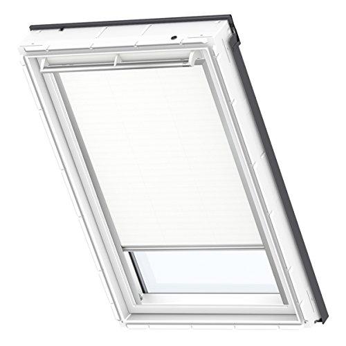 VELUX Original-Verdunkelungsrollo (DKL) Dachfenster, Silberne Seitenschienen, SK08, Uni Weiß