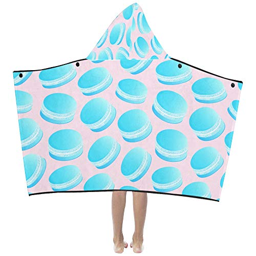 Macaron Azul Sorpresa Fantesy Suave y cálido Niños Viste con capucha Manta portátil Toallas de baño Envoltura para niños pequeños Niño Niña Tamaño del niño Viaje en el hogar Regalo para dormir Picnic