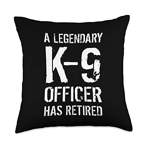 K9 OFFICER K-9 TEAM CANINE POLICE DOG UNIT GIFTS K-9 Officer Retirement Gift K9 Police Dog Handler Throw Pillow, 18x18, Multicolor