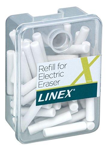 Linex 400098691 Lot de 50 recharges pour gomme électrique Blanc