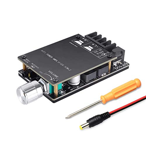 Bluetooth 5.0 Audio Amplifier/Receiver Board Stereo Sound TPA3116 Kits, 50W x2 DC 5-27V
