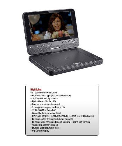 "Sony 8"" Portable DVD Player DVP-FX811"