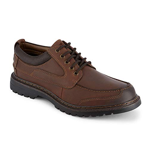 Dockers Mens Overton Leather Rugged Casual Oxford Shoe with NeverWet, Red Brown, 9.5 W